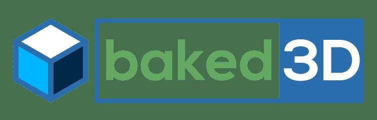 baked 3d logo